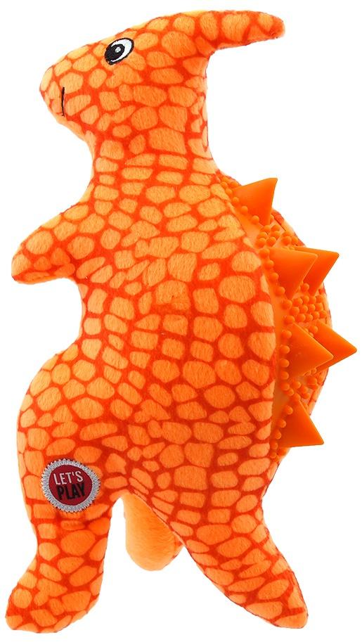 Rotaļlieta suņiem - Let's Play dinozaurs, oranžs, 25cm