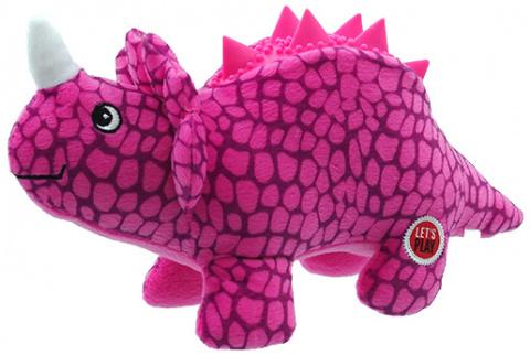 Игрушка для собак – Let's Play Dinosaur, purple, 25 см title=