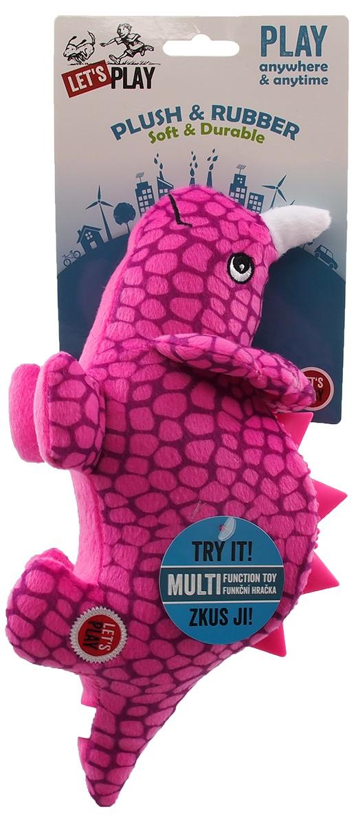Игрушка для собак - Let's Play динозавр, фиолетовый, 25 см