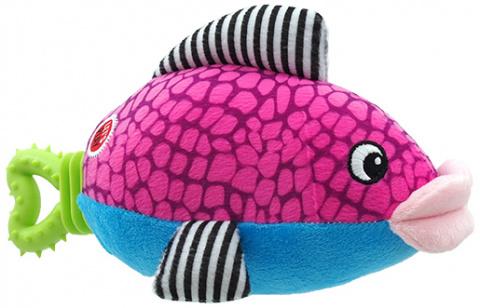Rotaļlieta suņiem - Let's Play zivs, violeta, 25cm