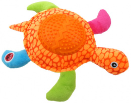 Rotaļlieta suņiem – Let's Play Turtle, orange, 22 cm
