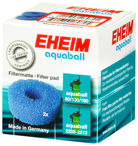 Filtru materiāls - EHEIM coarse filter pad for aquaball 60/130/180, 2 pcs title=