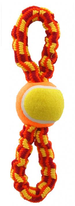 Rotaļlieta suņiem -  Dog Fantasy Good's Ropes eight with ball, 27cm