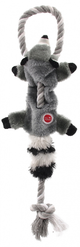 Игрушка для собак - Dog Fantasy Good's Skinneeez Rope Racoon, 35см