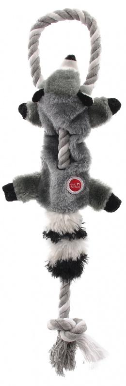 Rotaļlieta suņiem – Dog Fantasy Good's Skinneeez Rope Racoon, 35 cm