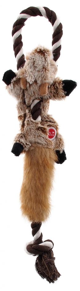 Rotaļlieta suņiem – Dog Fantasy Good's Skinneeez Rope chipmunk, 35 cm