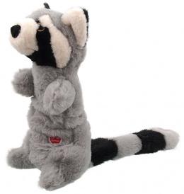 Игрушка для собак – Dog Fantasy Good's Skinneeez Stretch and Sgueak Plush Raccoon, 45 см