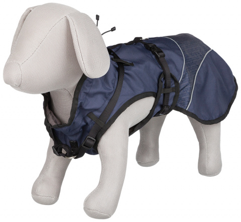 Одежда для собак - Trixie Duo Coat with Harness, XS, 30 cм, цвет - синий