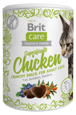 Gardums kaķiem - Brit Care Cat Snack Superfruits Chicken, 100 g