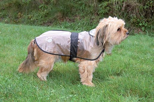 Дождевик для собак - TRIXIE Tarbes raincoat, M, 46 см, Прозрачный плащ
