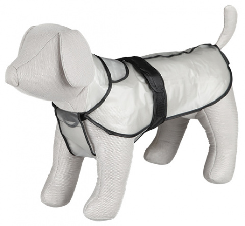 Lietus mētelis suņiem - TRIXIE Tarbes raincoat, M, 50 cm, Caurspīdīgs