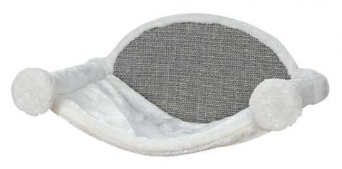 Guļvieta kaķiem – TRIXIE Hammock for Wall Mounting, 54 x 28 x 33 cm, White/Grey title=