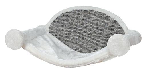 Guļvieta kaķiem – TRIXIE Hammock for Wall Mounting, 54 x 28 x 33 cm, White/Grey
