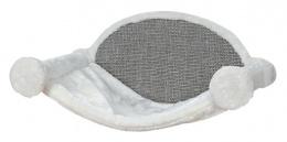 Спальное место для кошек – TRIXIE Hammock for Wall Mounting, 54 x 28 x 33 см, White/Grey