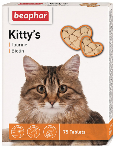 Gardums kaķiem - Kitty's Taurin-Biotin, 75 tab.