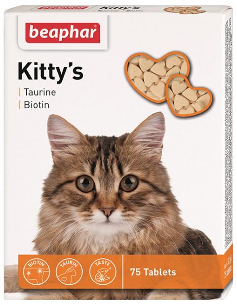 Лакомство для кошек - Kitty's Taurin-Biotin 75 таб.  Art.12509