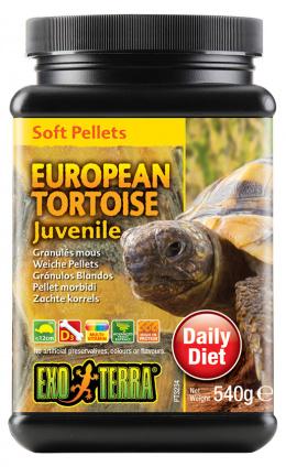 Barība rāpuļiem - Exo Terra European Tortoise Food Juvenile 540 g