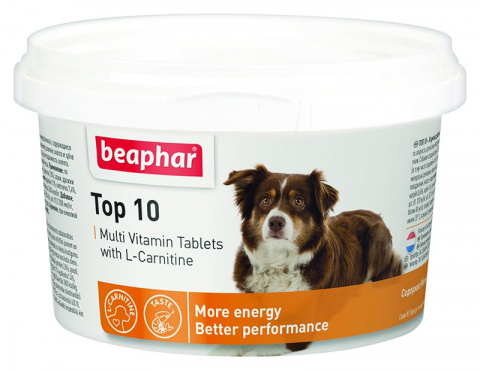 Пищевая добавка для собак - Beaphar Top 10, 180 шт. title=