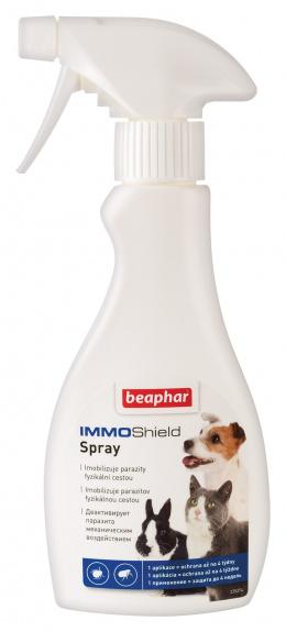 Aerosols pret parazītiem - Beaphar IMMO Shield Spray suņiem, kaķiem, grauzējiem 250ml.