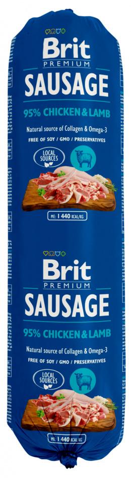 Консервы для собак - Brit Sausage Chicken and Lamb, 800 г