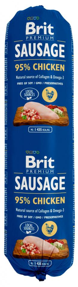 Консервы для собак - Brit Sausage Chicken, 800 г