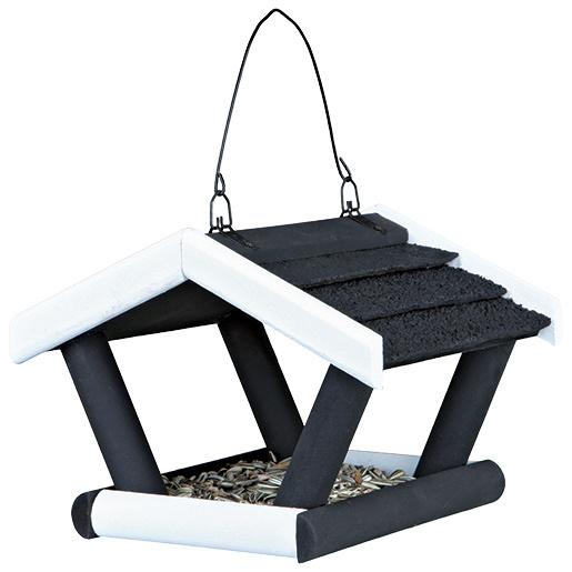 Barotava āra putniem - Trixie Natura Hanging Bird Feeder, 17*19*14cm, (melna/balta)