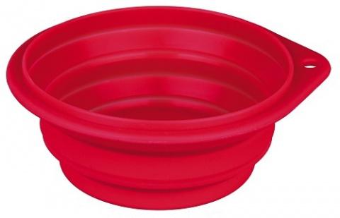 Bļoda suņiem ceļošanai - Trixie Travel Bowl, 0.25 l, 11 cm