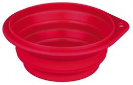 Bļoda suņiem ceļošanai – TRIXIE Travel Bowl, 0,25 l, 11 cm