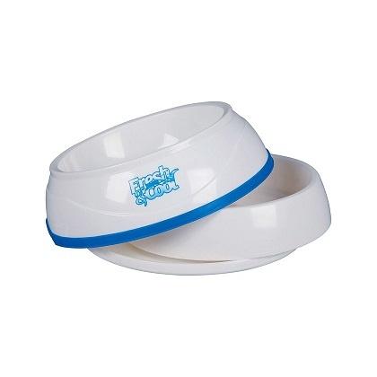 Atdzesešānās bļoda - Trixie, Cool Fresh cooling bowl 0.25 l, 12cm, krāsa - balta/zila