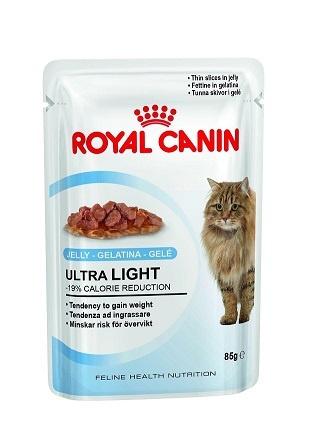 Konservi kaķiem - Royal Canin Feline Ultra Light (želejā), 85 g