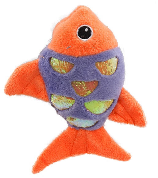 Игрушка для кошек - Plush fish with catnip mix colour