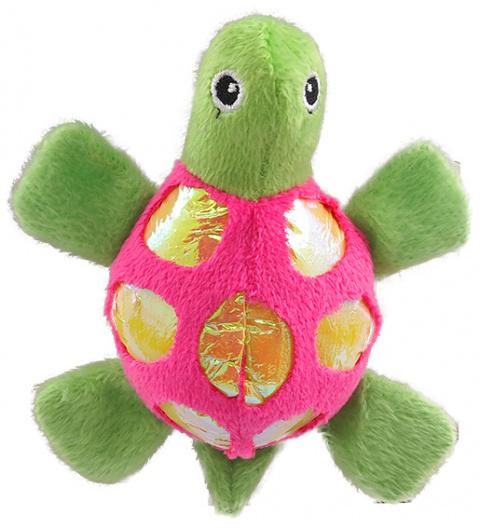 Игрушка для котов - Magic Cat Plush turtle with catnip mix colour, 11 см title=