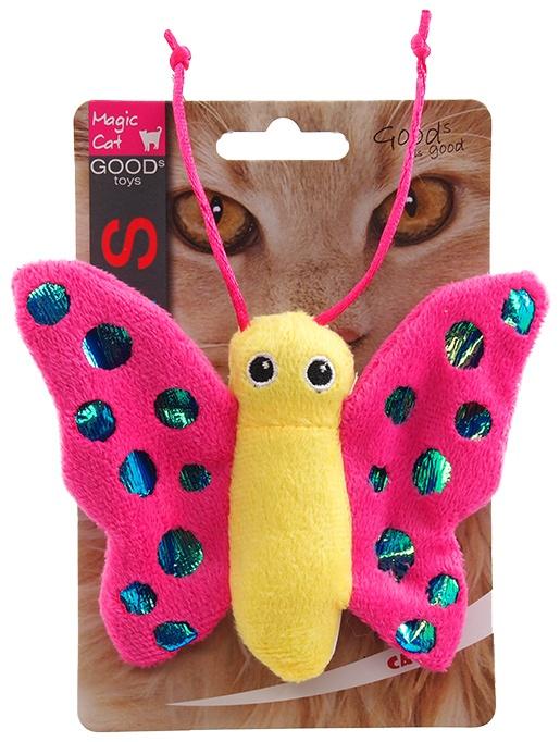 Игрушка для котов - Magic Cat Plush butterfly with catnip mix colour, 13 см