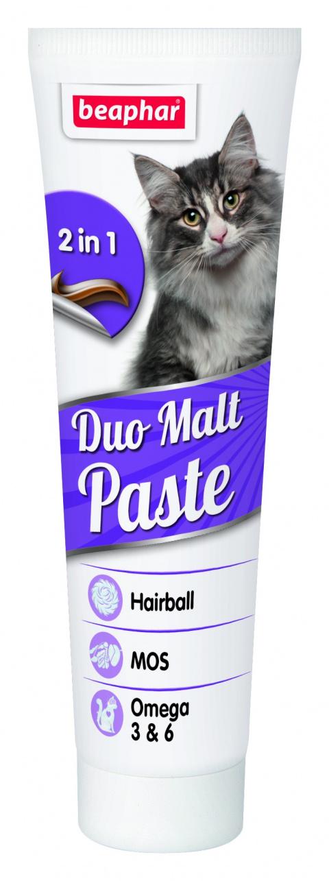 Vitamīnu pasta kaķiem - Beaphar Duo-Malt Cat, 100 g title=