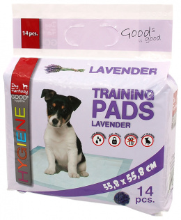 Впитывающие пеленки – Dog Fantasy Training Pads, Lavender, 55,8 x 55,8 cм, 14 шт.