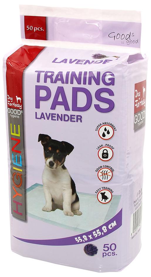 Absorbējošie paladziņi - Dog Fantasy Training Pads, ar lavandu, 55.8 x 55.8 cm - 50 gb.