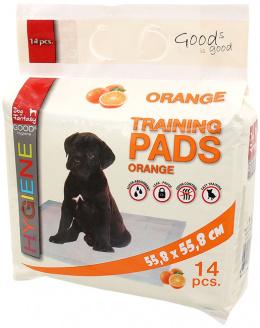 Впитывающие пеленки – Dog Fantasy Training Pads, Orange, 55,8 x 55,8 cм, 14 шт.