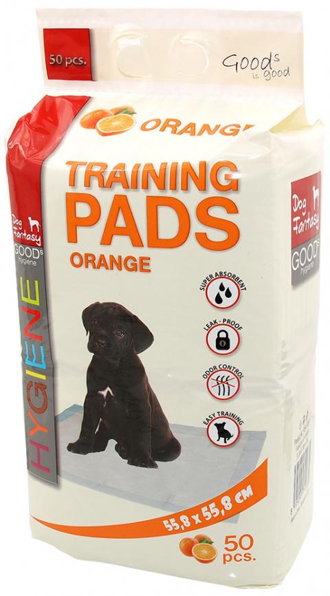 Absorbējošie paladziņi - Dog Fantasy Training Pads, ar apelsīnu aromātu, 55.8 x 55.8 cm - 50 gb