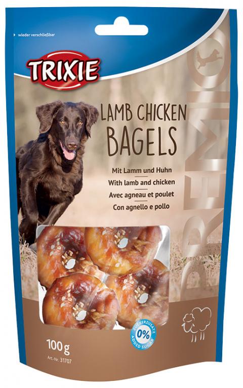Gardums suņiem - Trixie Premio Lamb Chicken Bagels, 100 g