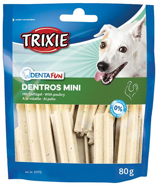Лакомство для собак - Trixie Denta Fun Dentros Mini, 60 г