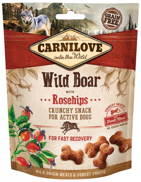 Лакомство для собак - CARNILOVE Dog Crunchy Snack Wild Boar with Rosehips, 200 г