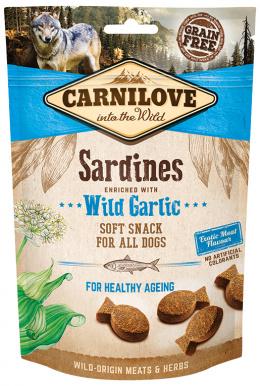 Gardums suņiem - CARNILOVE Dog Semi Moist Snack Sardines enriched with Wild garlic, 200 g