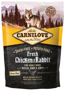 Barība suņiem - CARNILOVE Fresh Chicken & Rabbit, Muscles, Bones & Joints, 1.5 kg
