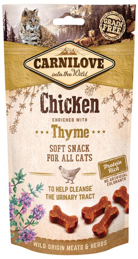 Gardums kaķiem - CARNILOVE Snack vistas gaļa ar timiānu, 50 g title=