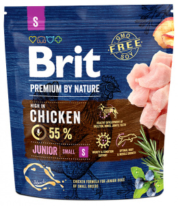 Barība suņiem - Brit Premium by Nature Junior S, 1 kg