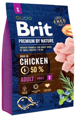 Barība suņiem - Brit Premium by Nature Adult S, 3 kg