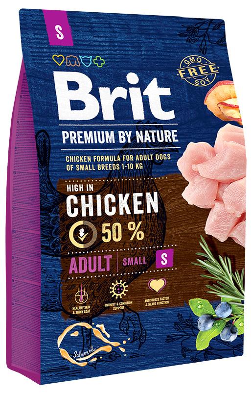 Корм для собак - BRIT Premium By Nature Adult S, 3 кг