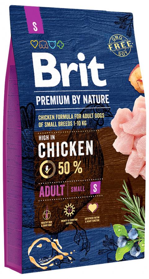 Barība suņiem - Brit Premium by Nature Adult S, 8 kg