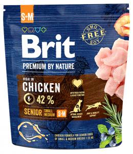 Корм для собак - BRIT Premium By Nature Senior S+M, 1 кг