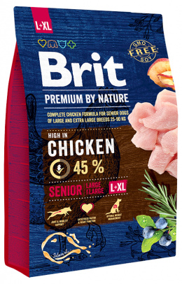 Корм для собак - BRIT Premium by Nature Senior L / XL , 3 кг